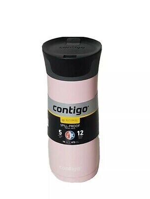 New CONTIGO Autoseal Spill-Proof Travel Mug 16 oz West Loop 2.0  Millennial Pink