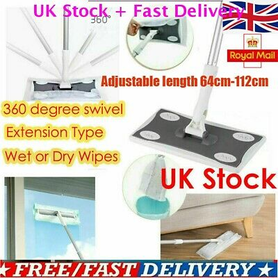 Super Wood Tile Laminate Floor Cleaner Static Cleaning Mop and Wet //Dry Wipes UK