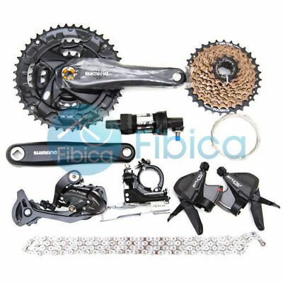 New SHIMANO Mountain Bike ALIVIO M4000 Group Set 3x9//27 Speed 7 pcs Gray SLAE!!!