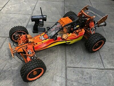 Yama 2 stroke 1//5 26cc petrol  roll cage and rear wing