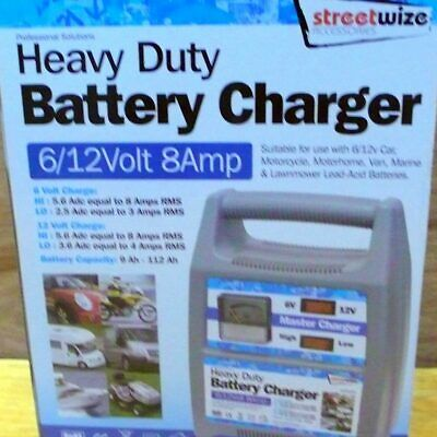 6/12V 8 Amp Automatic Battery Charger - Streetwize