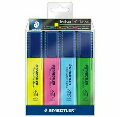 pack of 4 pastel colours STAEDTLER 364 CWP4PA Textsurfer highlighters