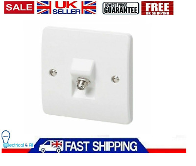 MK F Type Satellite Coaxial Socket Rounded Edges Screwed