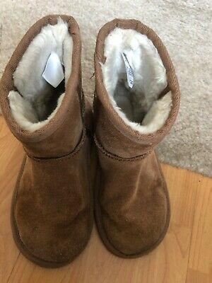 YOUNGER GIRLS M and S leather tan boots