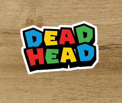 Grateful Dead Deadhead Mario Bros Premium Vinyl Sticker 3 in Jerry Garcia Head