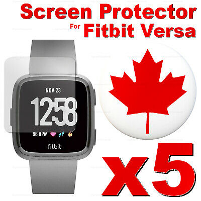 5 PACK - Tempered Glass Screen Protector For Fitbit Versa 2 / Versa Lite