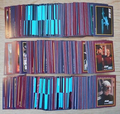 Star Trek Original & Next Generation Collector Cards - Over 400 Card Lot - C001
