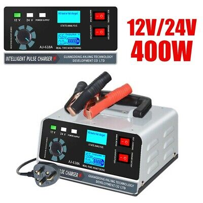 400W 40A 12V/24V Car Autobatterieladegerät Smart Automatic Pulse Repair Trickle