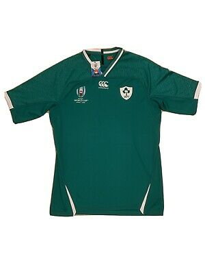 Canterbury IRFU Jersey Rugby World Cup Japan 2019 Men's LARGE Green White NWT