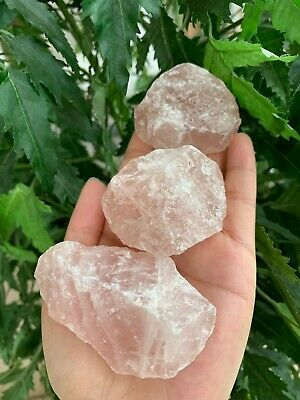 "Large Rose Quartz Rough Natural Stones, 2-3"" Raw Rose Quartz,Wholesales Bulk Lot"