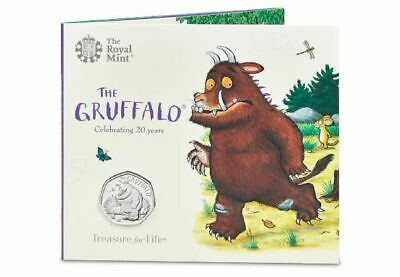 2019 The Gruffalo & Mouse  50p Certified BU Coin in a Presentation Pack