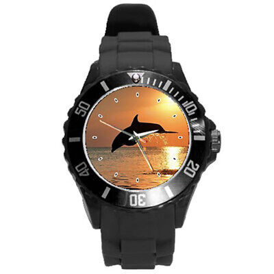 Beautiful Sunset picture perfect Whale Dolphin women's men's kid's Watch