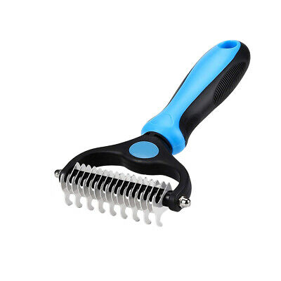 Pet Grooming Tool 2 Sided Undercoat Rake Safe Dematting Comb Brush for DOGS&CATS