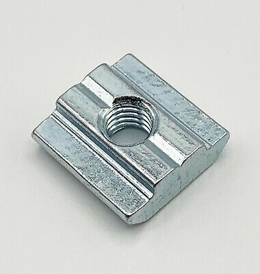 M 6 Sliding T-Nut Block 8 mm Slot 3030 Extrusion Zinc Plated Steel lot of 25