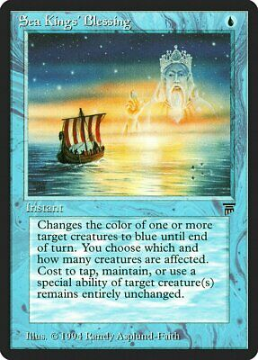 Sea Kings/' Blessing Legends MINT Blue Uncommon MAGIC THE GATHERING CARD ABUGames