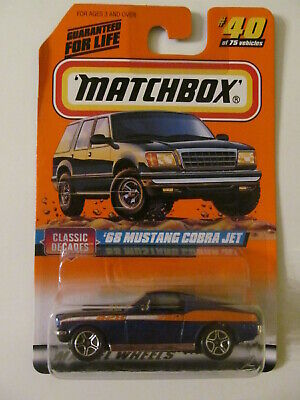 Matchbox 1968 Ford Mustang 428 Cobra Jet 1//64 DieCast #40 Series 5 Classic Loose