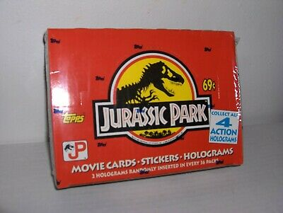 1992 Vintage Topps Jurassic Park Movie Trading Cards Factory Sealed Box 36 Packs