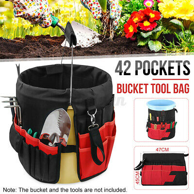TOP QUALITY KINCROME BUCKET BAG TOOLBAG 32 POCKETS SCREWS HARDWARE ACCESSORIES