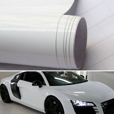 White High Gloss Vinyl Wrap Vehicle Glossy Film Foil For Car Roof Hood Stickers