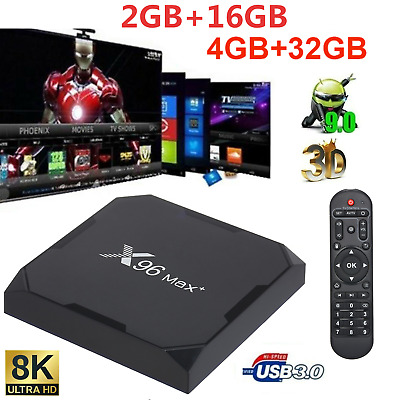 X96 Max Plus 8K Android 9.0 S905X3 Chipset TV Set Top Box Multimédia WiFi P3T4