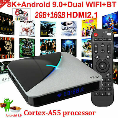 A95X F3 8K Android 9.0 S905X3 Smart TV Box UHD 16G Multimédia 2.4/5G WiFi S6D9