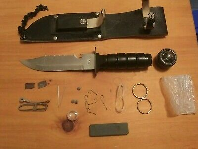 Survival Combat Tactical Serrated Hunting Knife W/ Sheath Bowie Fixed Blade