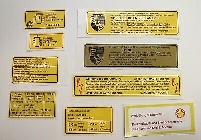 Decals & Stickers RED BORDER ENGINE DECALS SET FOR EARLY PORSCHE ...
