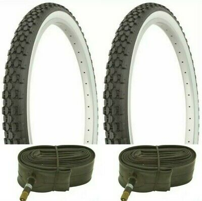 37-590 TWO DURO BICYCLE TIRES 26X1/&3//8 ,GUMWALLS /& 2 THORN PROOF TUBES 2
