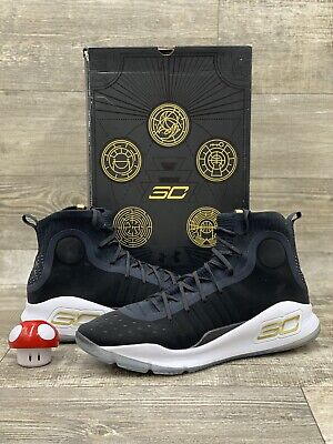 curry 4 black white gold