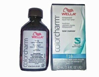 Wella T18 -lightest ash blonde toner 1.4oz.FAST & FREE DELIVERY 1-2 WORKING DAYS