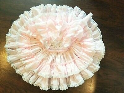 GOLDEN AGE Size 4T California Girls Vintage Dress Pink Ruffle Lace Trim USA