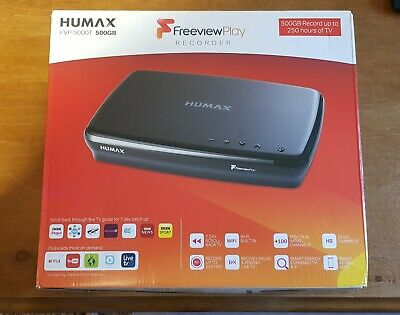 Humax Freeview Play FVP-5000T HD TV 500GB Recorder. In Very Good Condition.