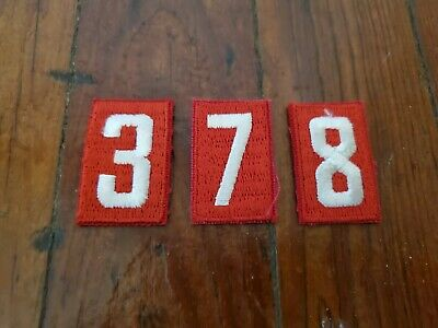 Boy Scout Troop Numbers Lot, 173 Total, Numbers 3, 7, & 8 New Old Stock