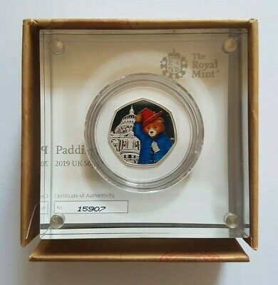 2019 Paddington Bear at St Paul's Cathedral Silver Proof Fifty Pence 50p Coin UK