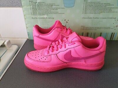 difícil de complacer Cierto Persistente  GIRLS RARE HOT PINK NIKE AIR FORCE 1 Size 5 - £40.00 | PicClick UK