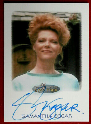 STAR TREK THE NEXT GENERATION - SAMANTHA EGGAR, Personally Signed Autograph Card