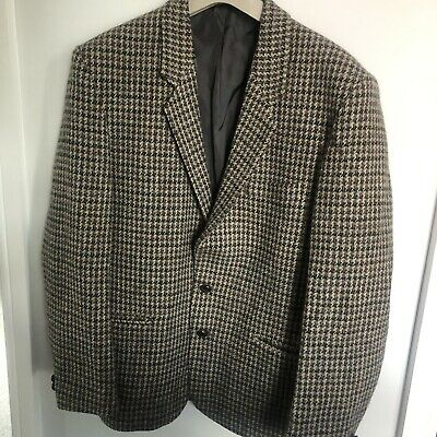 Mens Harris Tweed Checked Sports Jacket/Blazer Size Small 38 Chest