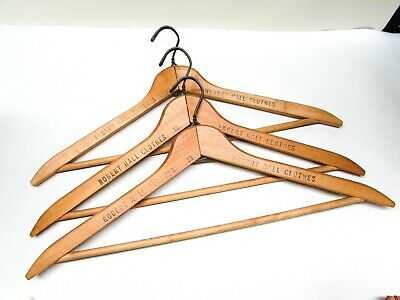 Vintage Robert Hall Clothes Store Wooden Clothing Hanger Lot of 3