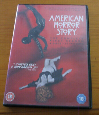 AMERICAN HORROR STORY THE COMPLETE FIRST (1st) SEASON DVDS 4 DISCS - 12 EPISODES