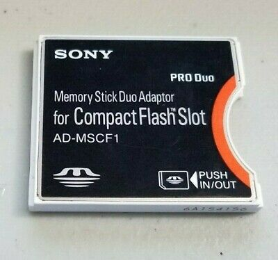 Sony AD-MSCF1 Memory Stick Duo Adapter for Compact Flash CF Card