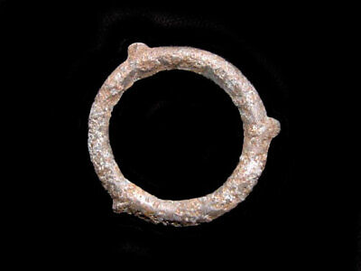 EXTREMELY RARE CELTIC RING PROTO MONEY, TRIPLE KNOB DESIGN +++As Found+++