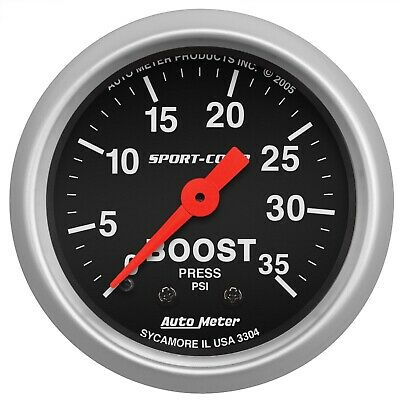 AutoMeter 3304 Sport-Comp Mechanical Boost Gauge