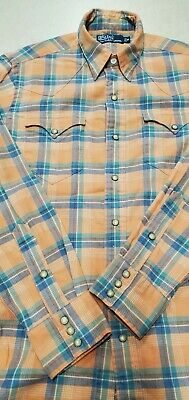 Ralph Lauren Polo men's M ls western style snap button shirt great condition