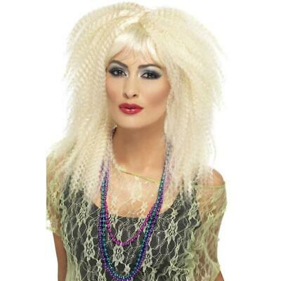 1980/'s Blonde Boogie Babe Wig Adult Womens Smiffys Fancy Dress Costume