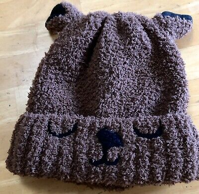 Brown Bear Winter Hat Infants Baby Size 12-24 Months Target