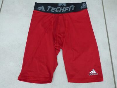 BNWOT Adidas red compression techfit base layer shorts bottoms. Medium