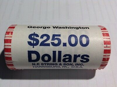 """2007 P George Washington Presidential /""""Unopened/"""" Mint Dollar $25 Coin ROLL"""