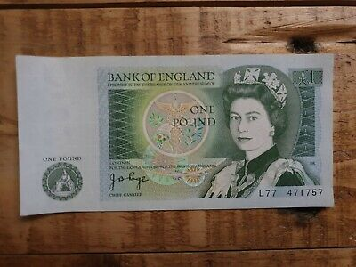 1978 JB Page one pound £1 note very good condition