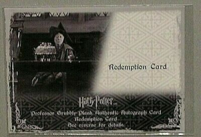 Harry Potter Memorable Moments 2 Apple Brook Grubbly-Plank Redemption Card Auto