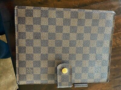 Authentic LOUIS VUITTON Agenda GM Day Planner Damier Cover Very Good Condition